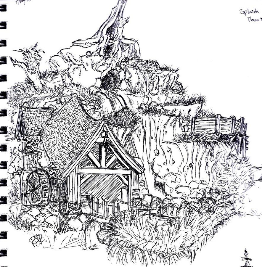Splash Mountain by Linarya.deviantart.com on @DeviantArt ...