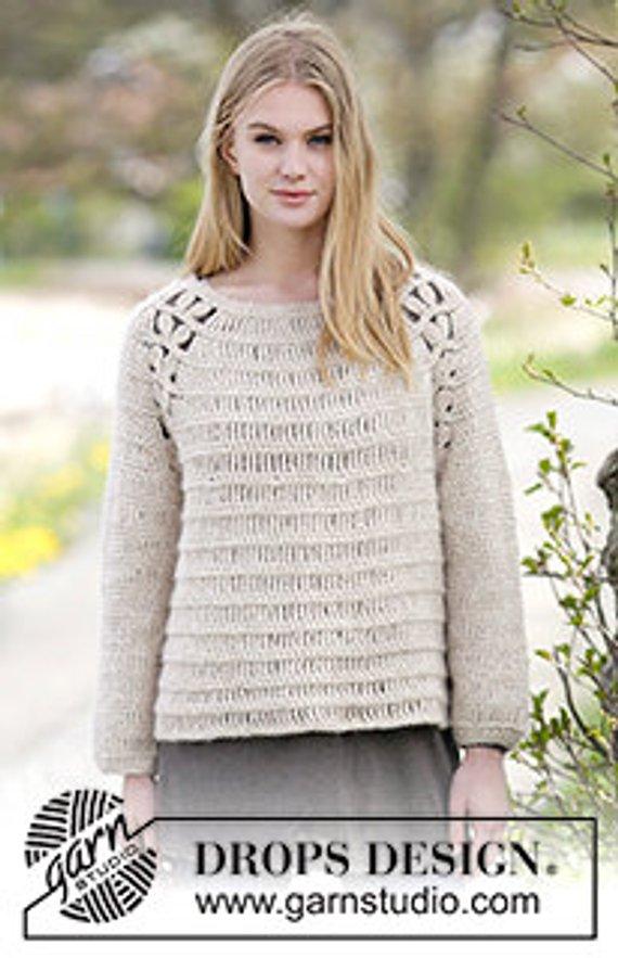 Crochet Priscella Women\'s Wool and Alpaca Winter Sweater, Custom ...