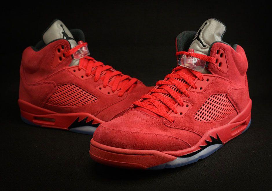 Air Jordan 5 Red Suede Release Date