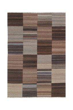 Modern Kilim Wool Rug - Multi - 5ft. 9in. x 4ft. 2in.