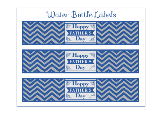 25 Water Proof Water Bottle Labels for Father/'s Day