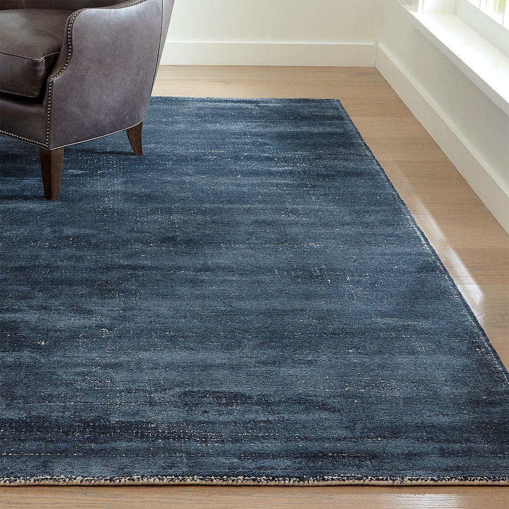 Vaughn Modern Blue Rug 5 X8 Reviews Crate And Barrel In 2020 Blue Rug Rugs On Carpet Modern Rugs Grey