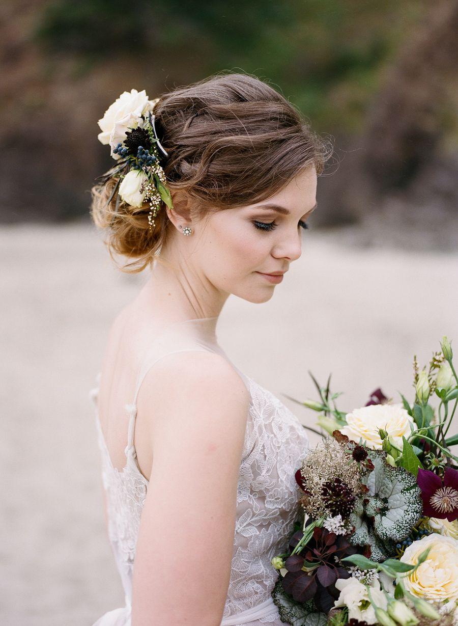 Celestial seaside wedding inspiration in oregon seaside
