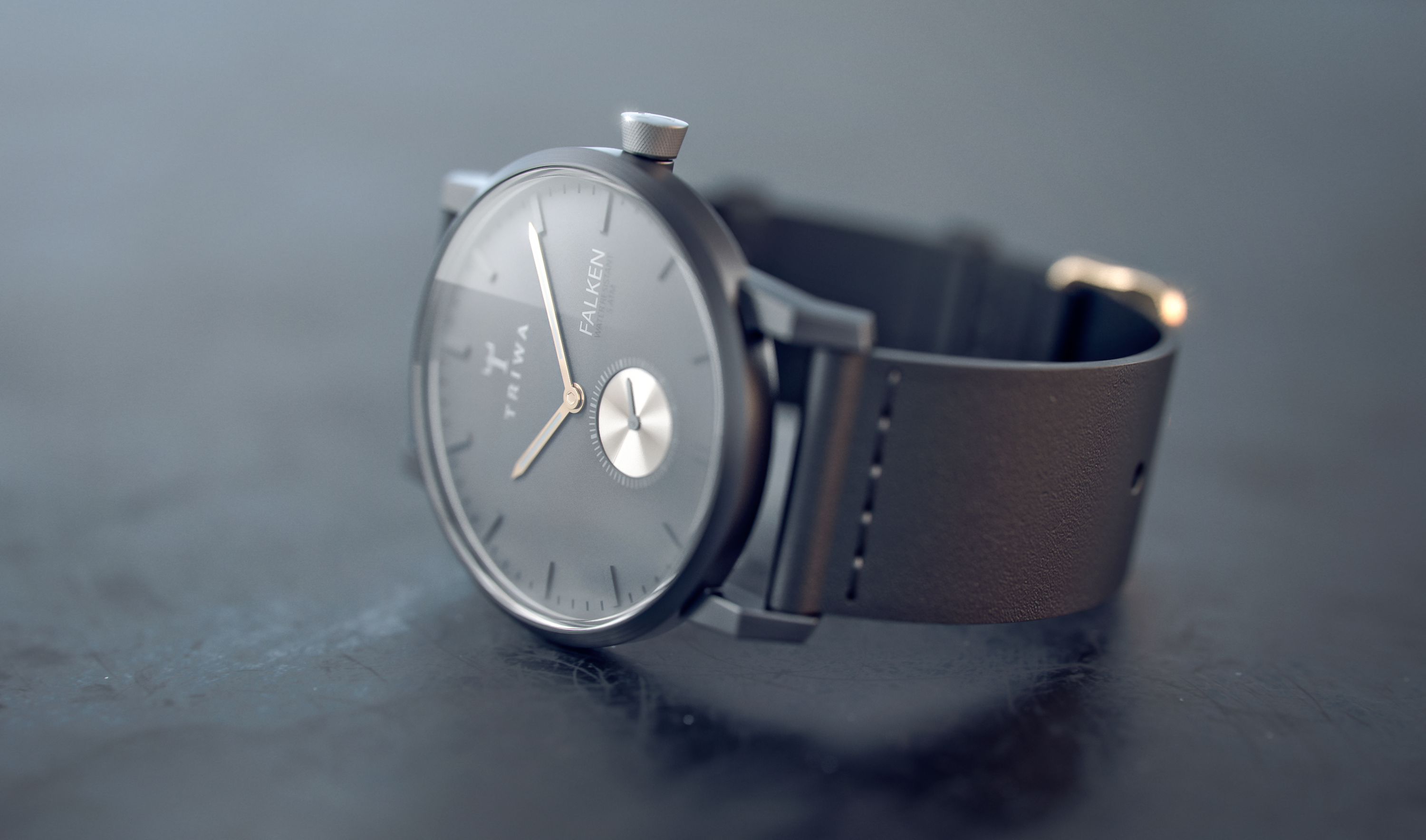 Triwa Falken watch, modeled in Rhino, rendered in KeyShot by