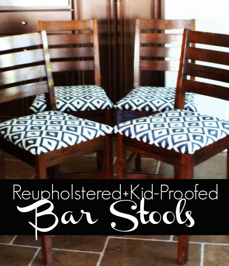 Reupholster Bar Stool Farmhouse