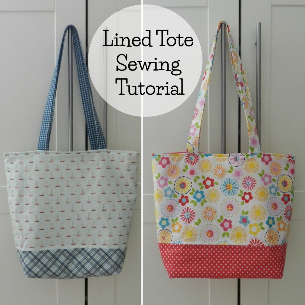 A Great Free Sewing Tutorial For A Lined Tote Bag The Secret To This Tote Is Lots Of Interfacing For Tote Bags Sewing Tote Bag Pattern Free Tote Bag Pattern