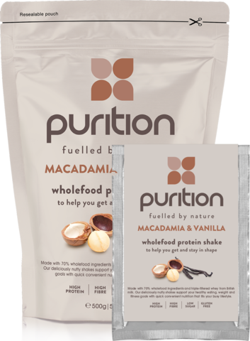 Purition Wholefood Protein Shake Macadamia & Vanilla