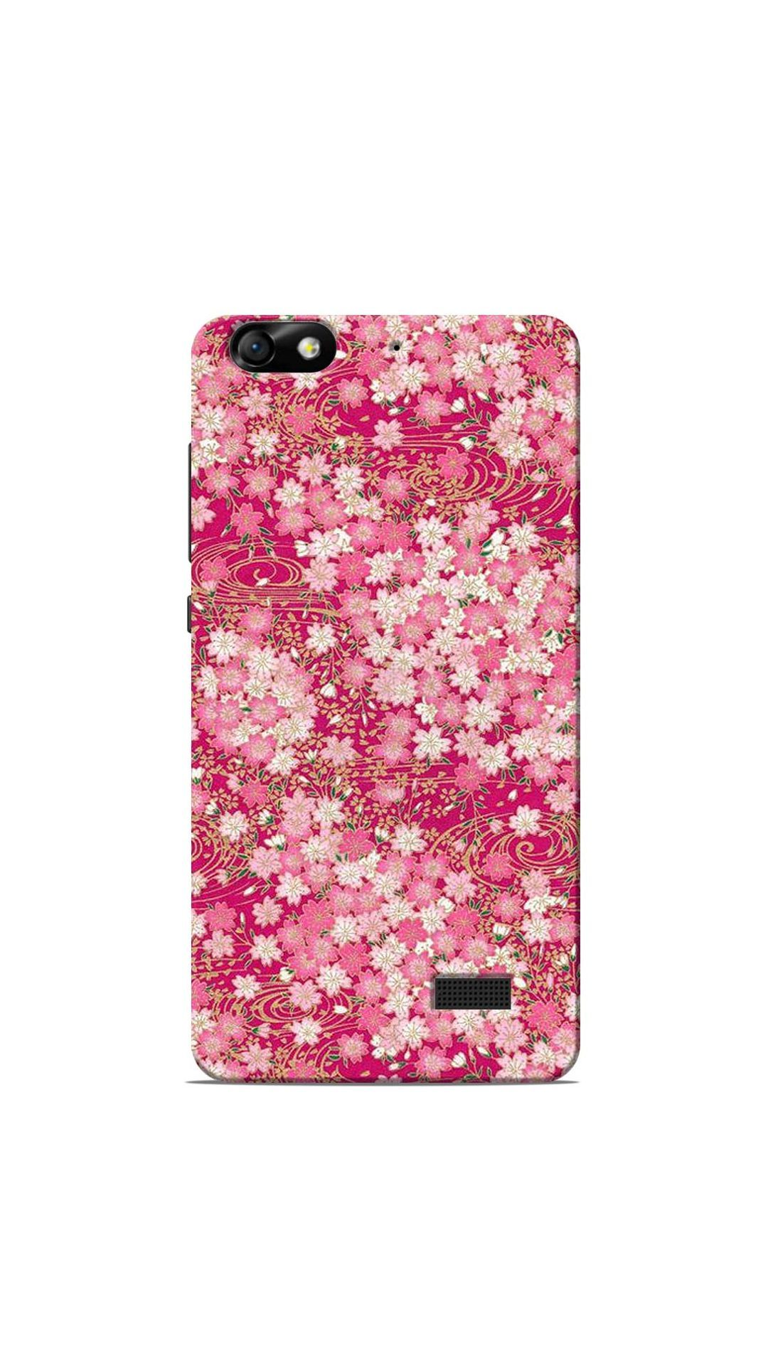 Pink Floral Pattern Back Cover for Huawei Honor 4C | Honor Mobile