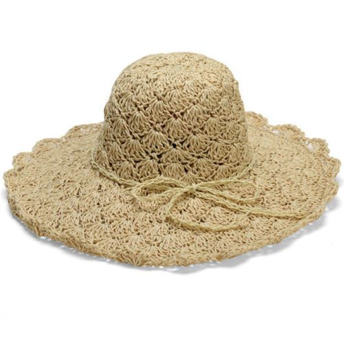 8b7135f67aecc NEW-Women-Summer-Floppy-Wide-Brim-Straw-Beach-Hat-Large-Brimmed-Straw-Hat