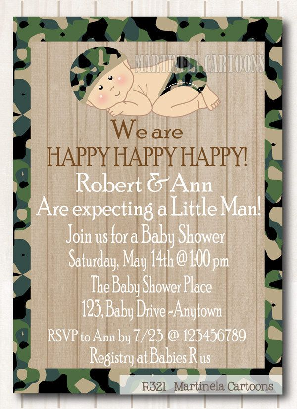 free printable camo baby shower invitations templates%0A Camo baby shower invitation couples shower by MartinelaCartoons