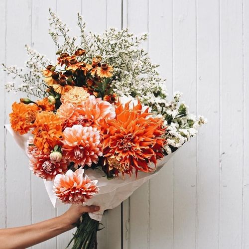 Imagem De Flowers Orange And Tumblr