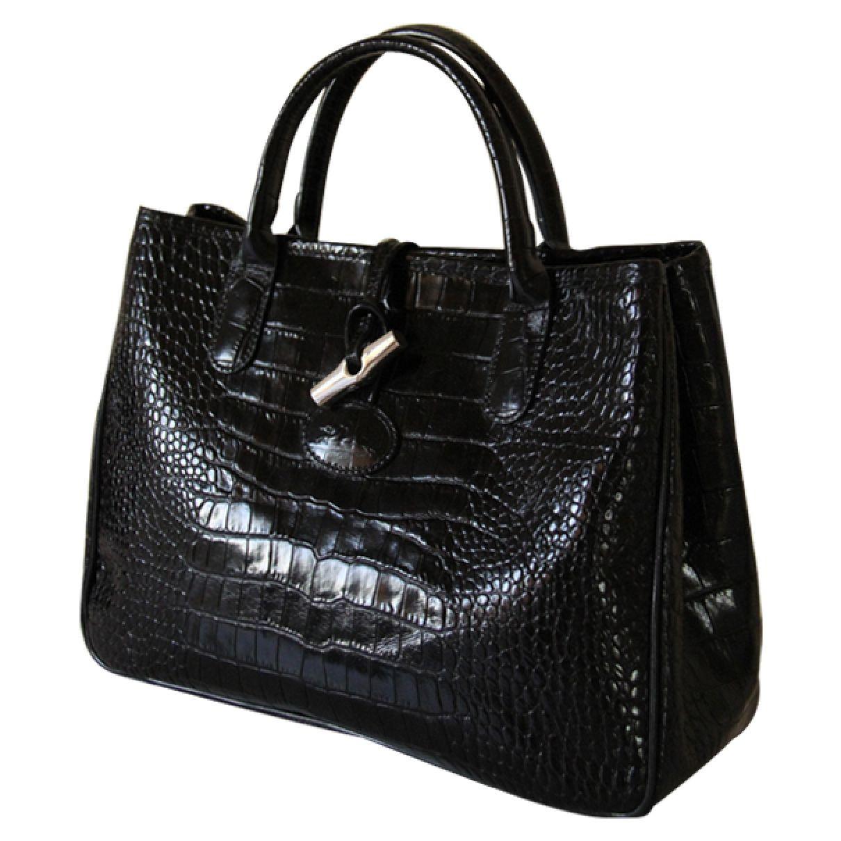 Sac Longchamp Roseau Fushia : Sac longchamps roseau croco