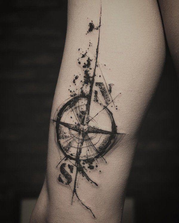 9b50630c7 100 Awesome Compass Tattoo Designs | tattoos | Compass tattoo design ...
