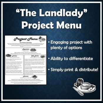 Othello Tragedy Essay This Project Menu Offers A Wide Selection Of Activities Related To The  Short Story The Landlady By Roald Dahl It Includes Differentiated Options  That  Mla Essay Style also Persuassive Essay Topics Project Menu For The Landlady By Roald Dahl   Ela  Middle School  Essay On Planet Earth