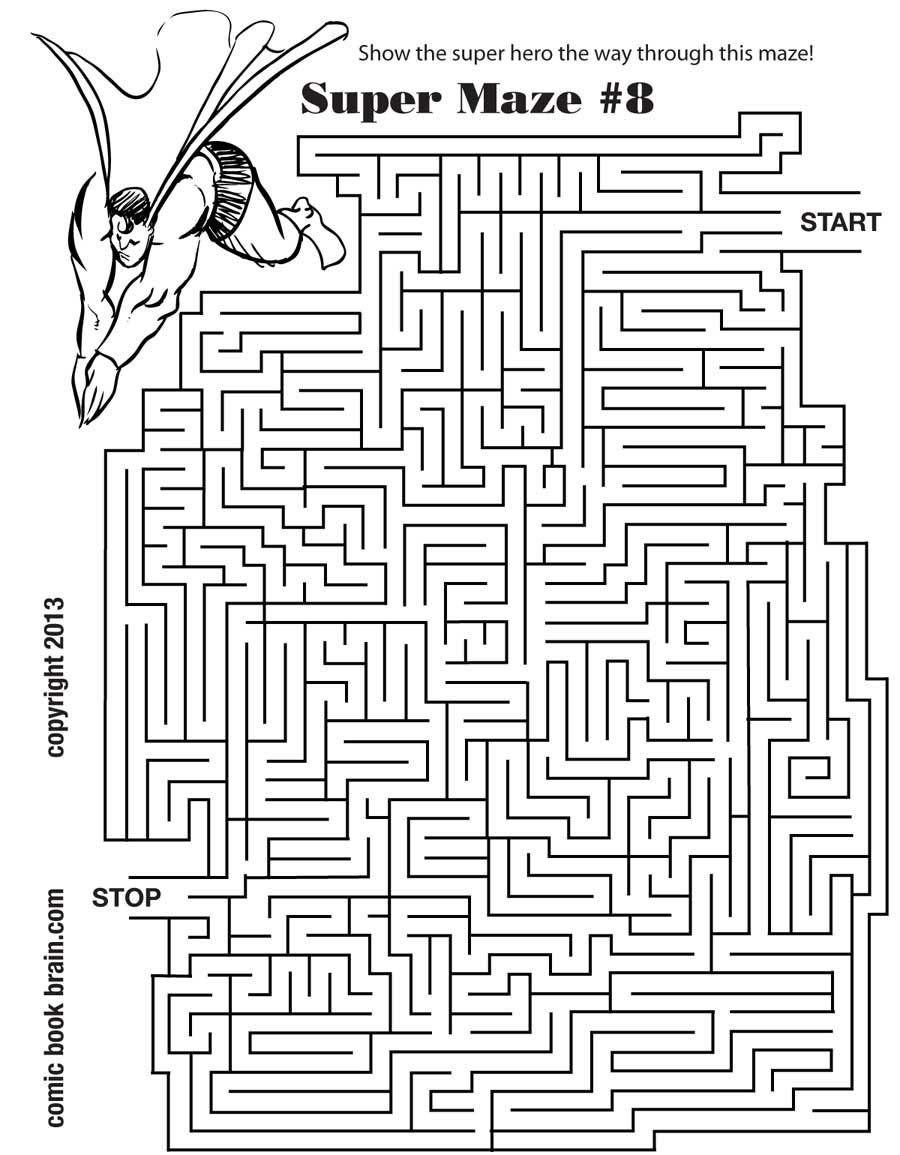 worksheet Kids Maze Worksheet super hero maze summer pinterest maze
