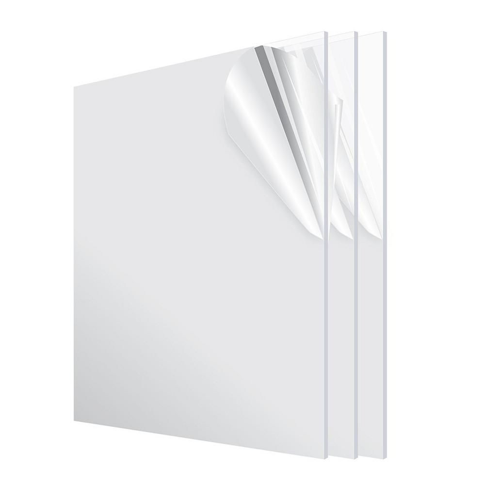 Adiroffice 24 In X 36 In X 1 8 In Clear Plexiglass Acrylic Sheet 3 Pack 2436 3 C In 2020 Clear Plexiglass Acrylic Sheets Plexiglass