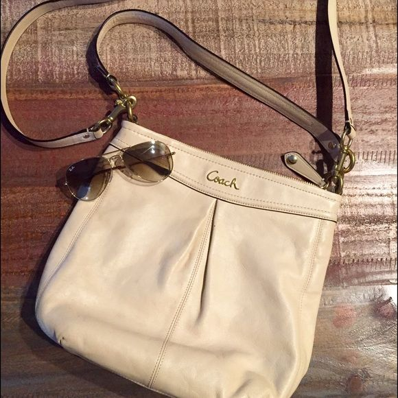 Coach Crossbody Bag Coach Cream colored Crossbody Bag with detachable strap.  Zip closure, with 38d4d7d8b6