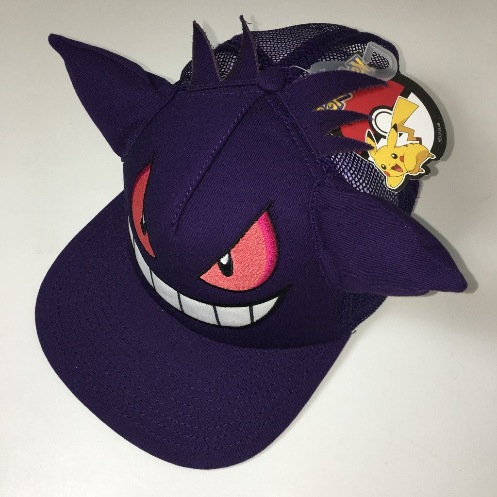 Pokemon - Gengar Snapback with Ears Fandom Outfits 2f51a1a1efe