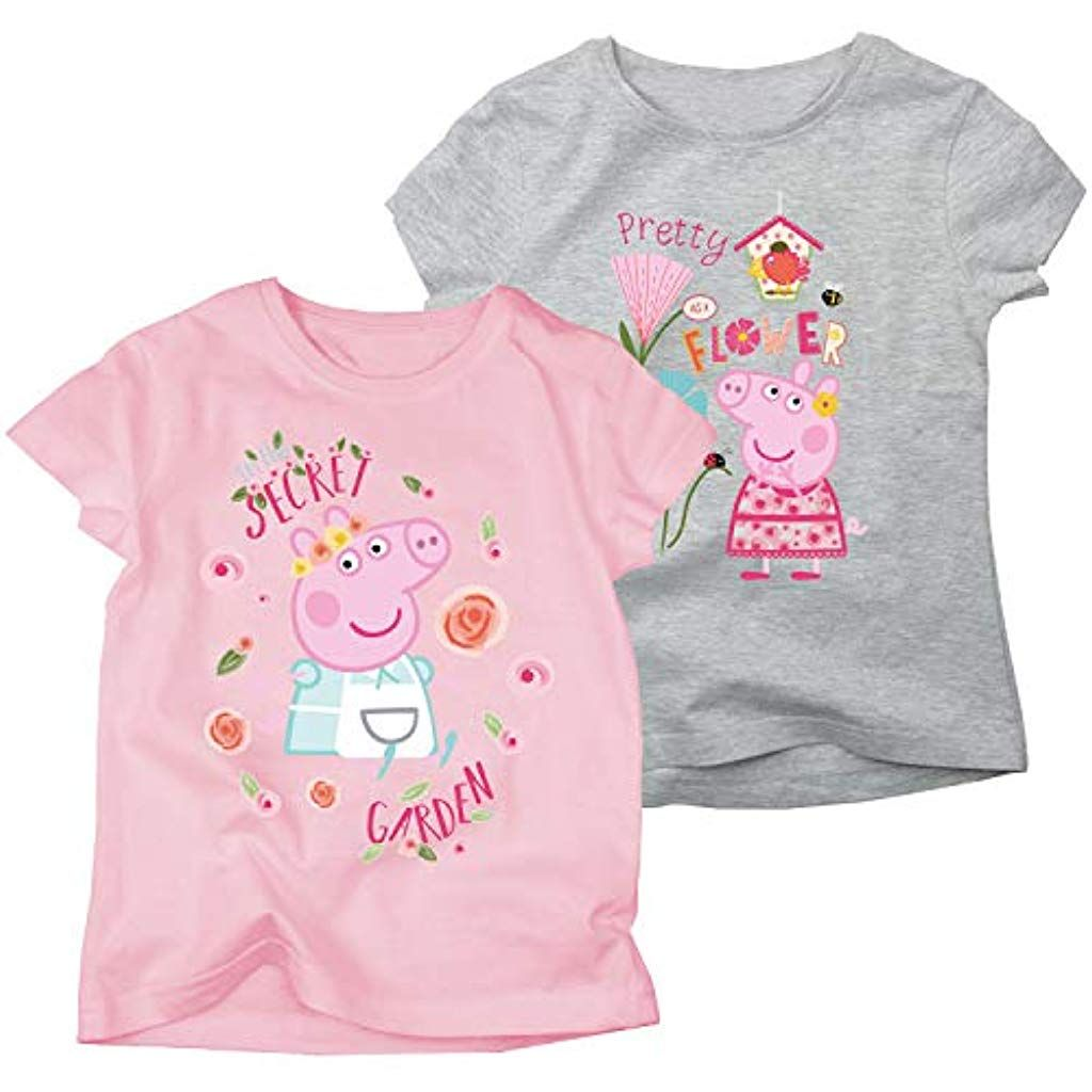grau-rosa Peppa Wutz Kinder M/ädchen Leggins