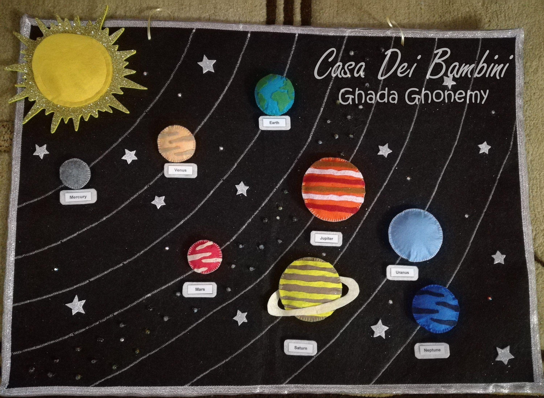 Montessori Solar System Board Montessori Toys Montessori