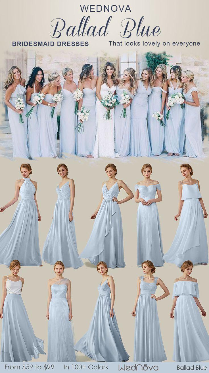 16 Custom Made Chiffon Bridesmaid Dresses Off the Shoulder