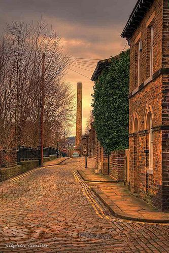 Street view in Saltaire, West Yorkshire, England. Always seemed like an  interesting place