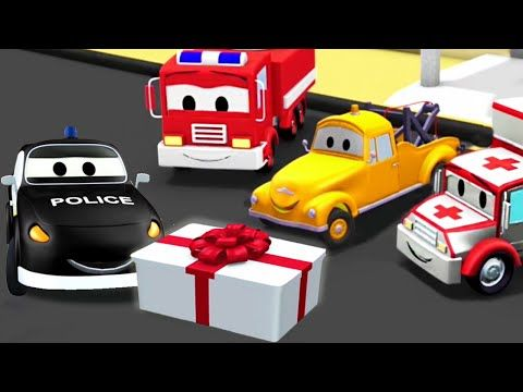 the car patrol fire truck and police car and mats birthday in car city