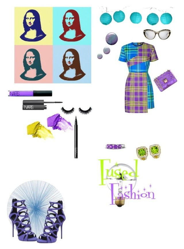 """Fused Fashion"" by campanellinoo on Polyvore featuring House of Holland, Tisch New York, Topshop, NARS Cosmetics, Ksubi, Room Essentials, Hervê Guyel, Gemvara, Giuseppe Zanotti and Charles Krypell"