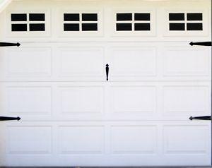Fake Windows For Your Garage Door Peel And Stick Vinyl For Standard Single Door Garage Doors Garage Door Windows Fake Window