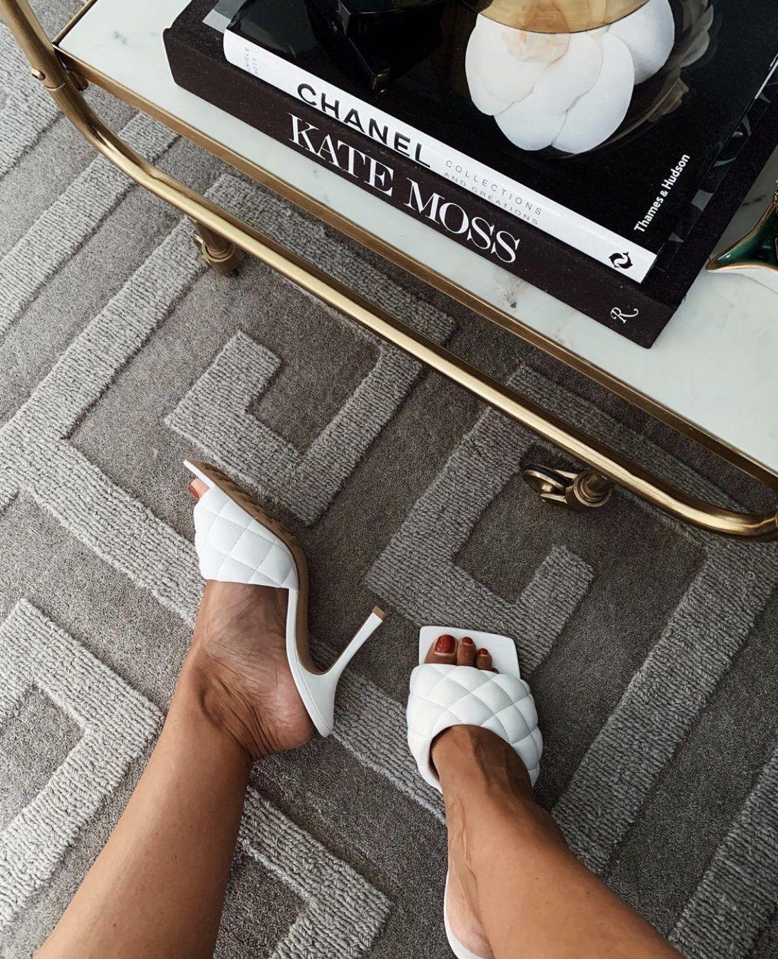 Bottega Veneta White padded sandals