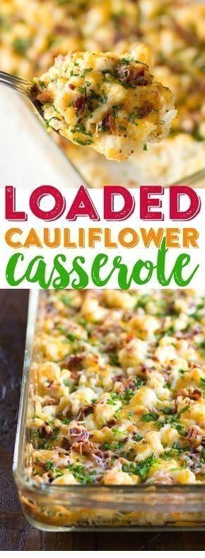 Casserole de chou-fleur chargé #loadedcauliflowerbake