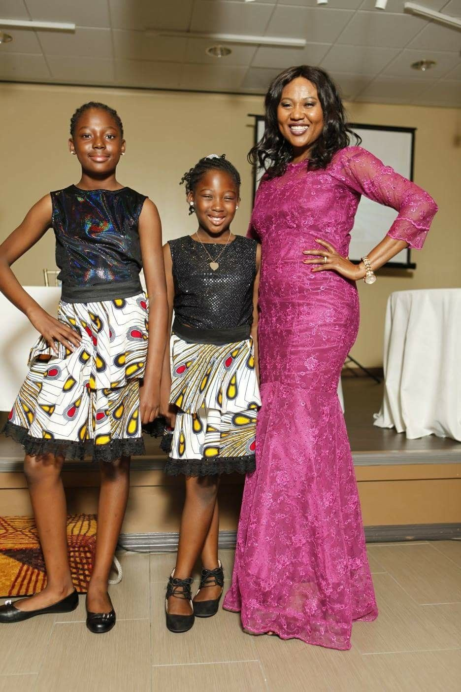My creation | African Ankara and lace dress styles | Pinterest ...