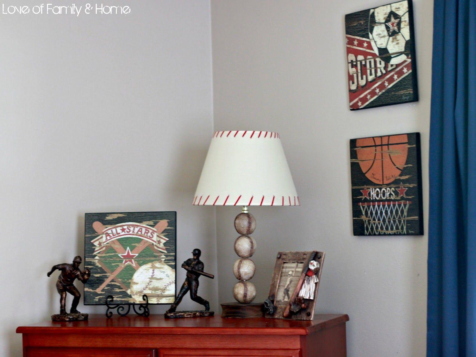 Baseball Lamps For Boys Room