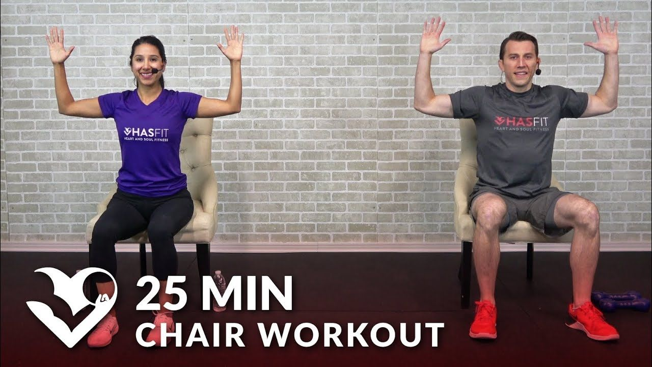25 min chair exercises sitting down workout seated