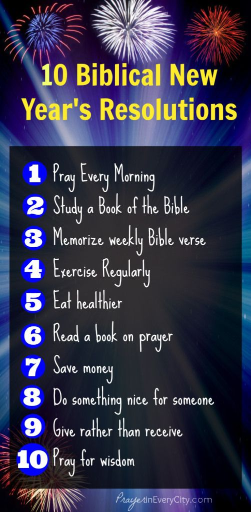 30 NYE Resolutions Everyone Can Try Join Prayer in Every City as we ...