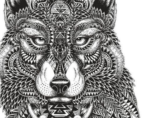 Adult Coloring Pages: Mayan Wolf   Coloring crafts