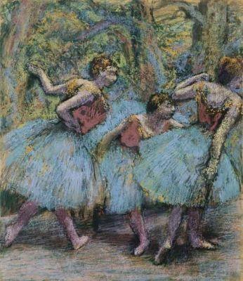 Edgar Degas - Três Dançarinas - 1903 Pastel sobre papel.