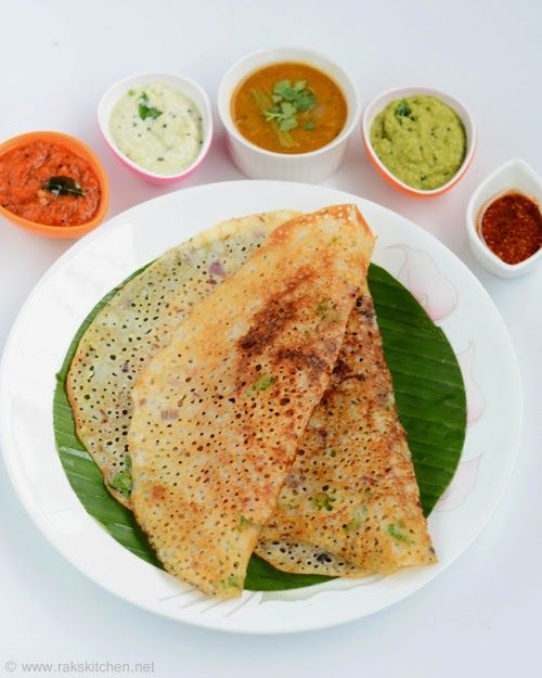 Rava dosa with 5 side dishes | Indian breakfast, Dishes and Dinners
