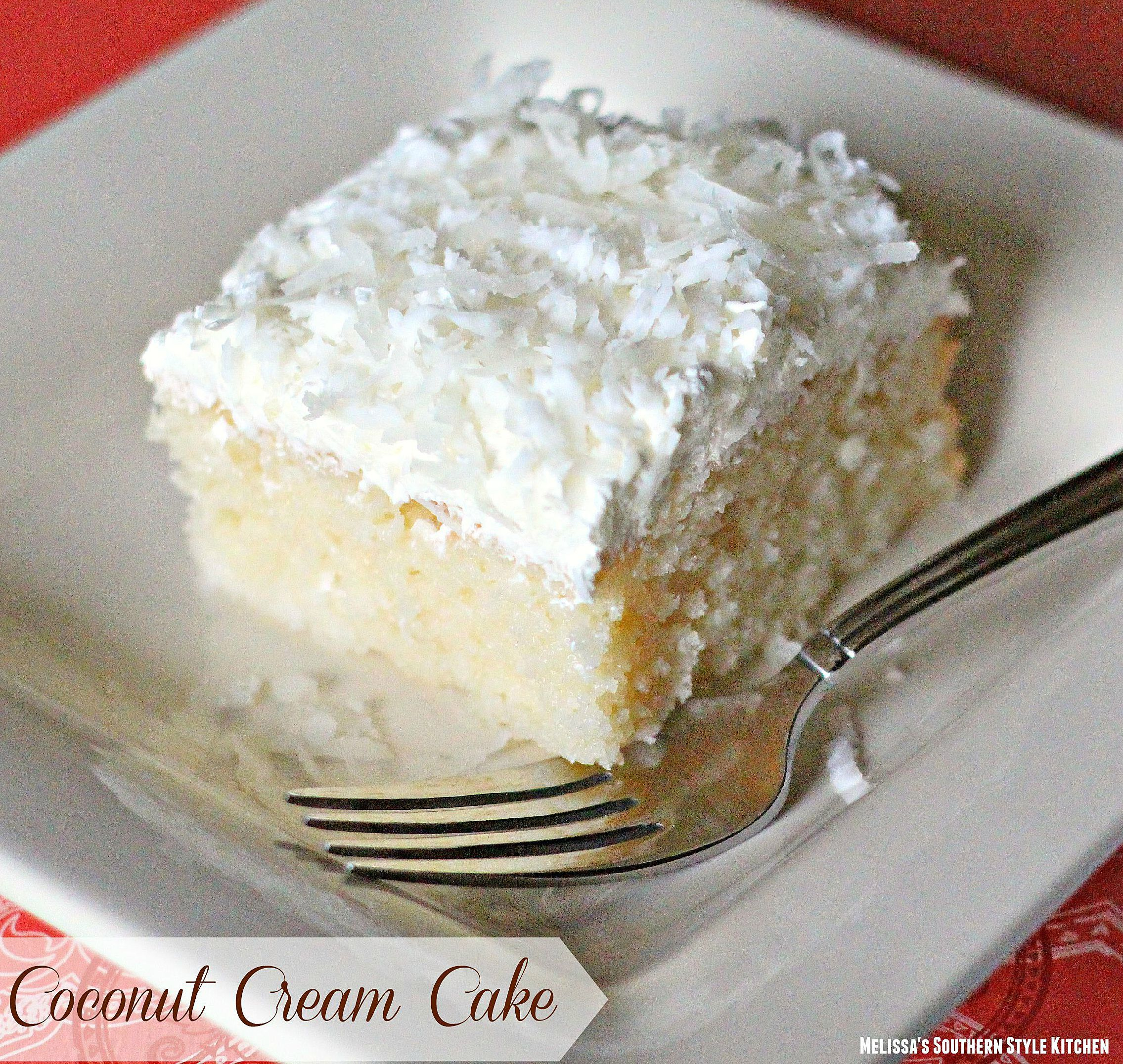 Coconut Cream Cake - This creamy and dreamy cake is a coconut lovers ...