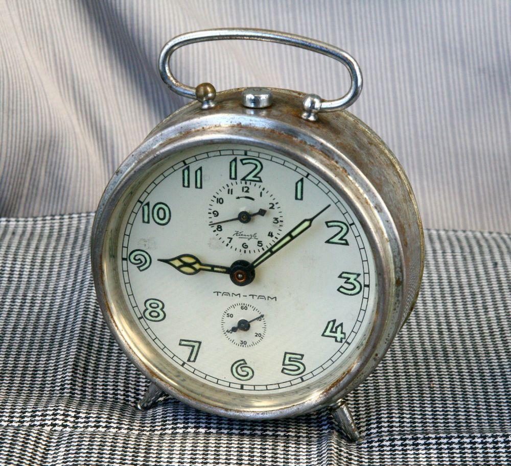 Antique Vintage 1950 S Rare Kienzle Tam Tam German Working Alarm