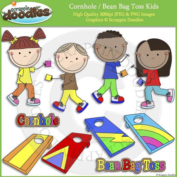 cornhole bean bag toss kids clip art clipart fonts pinterest rh pinterest ca bean bag toss game clipart bean bag toss game clipart