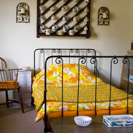 Quirky And Eclectic House Tour Retro BedroomsYellow