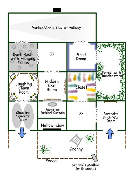 Static Granny's Mansion (garage haunt) Layout for 2012