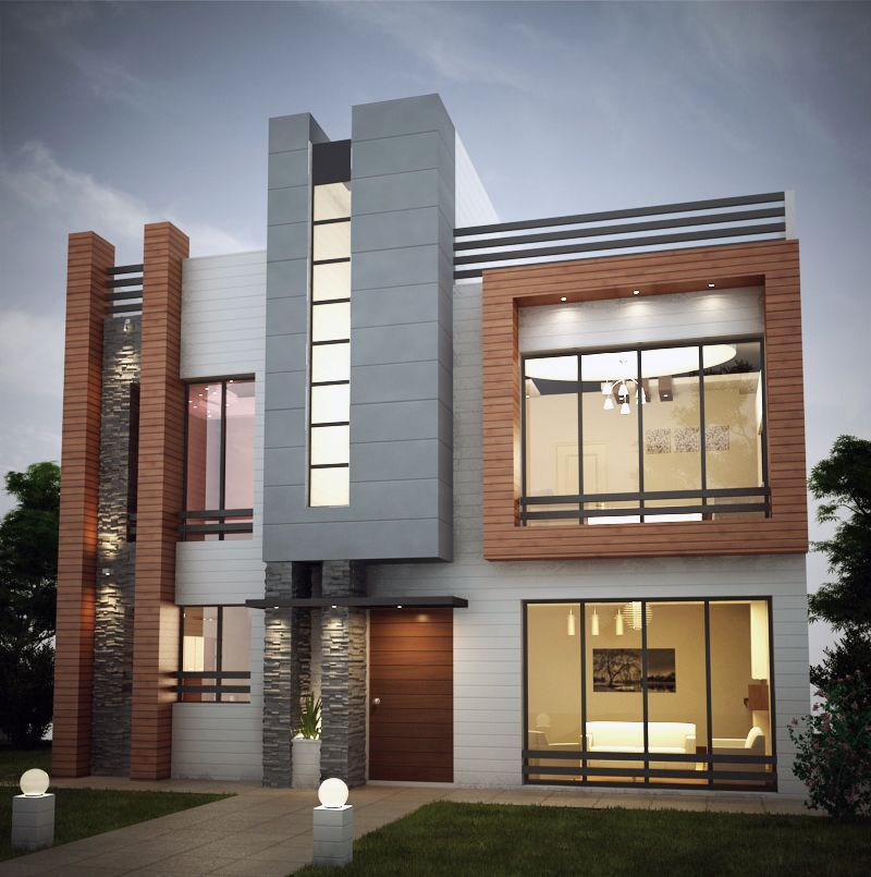 Modern Home Exterior Design Ideas 2017: #Villa #Exterior By Mohammad Akbari At Coroflot.com