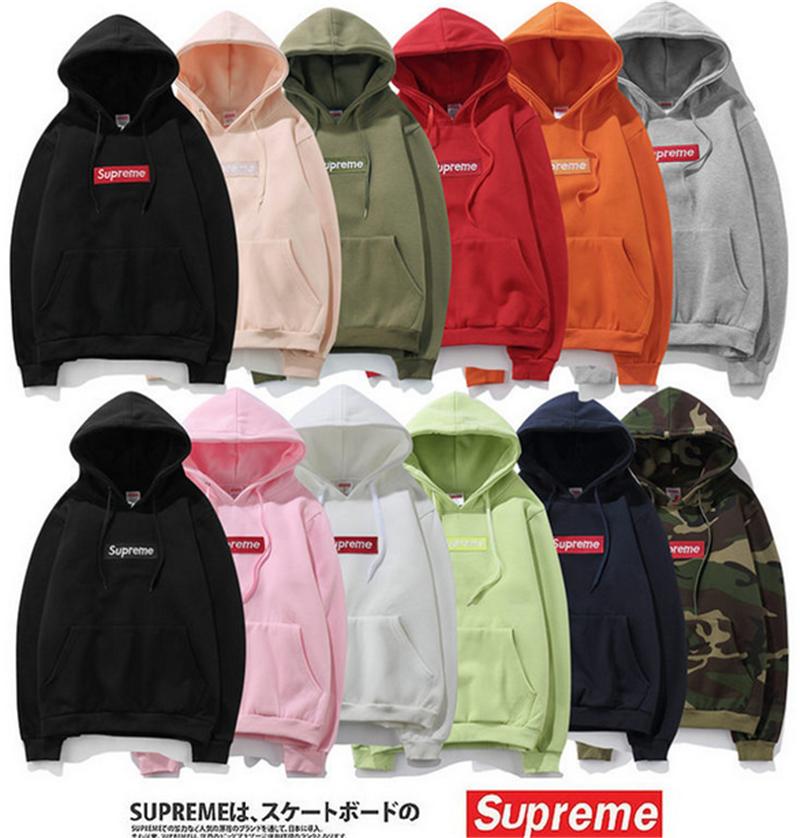 616450eccfc2 24 Style Supreme Classic Hooded Motion Logo Sweatshirt Mens Womens Jacket  Coat