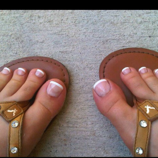 fake toenails that i put on myself no one knew the