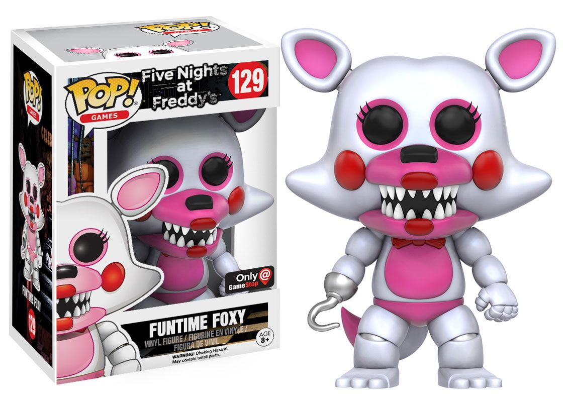 More five nights at freddy s construction sets coming soon - Five Nights At Freddy S Funtime Foxy Pop Figure By Funko Gamestop Exclusive