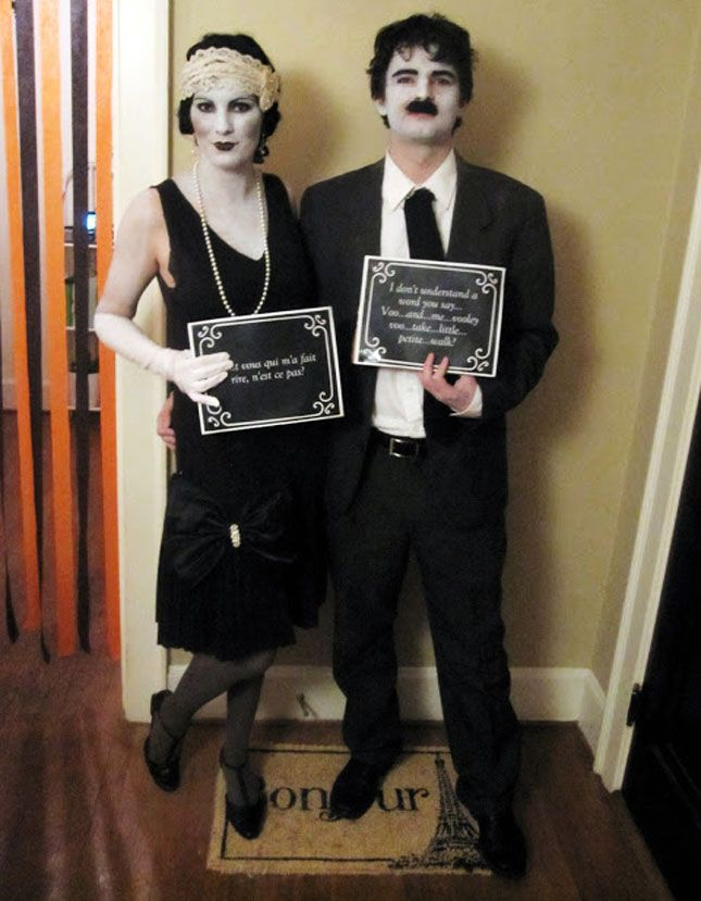 25 genius diy couples costumes her black and white makeup looks simple and cool