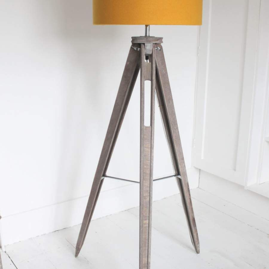 mustard tripod floor lamp by funky woolshed table lamps for bedroom ...