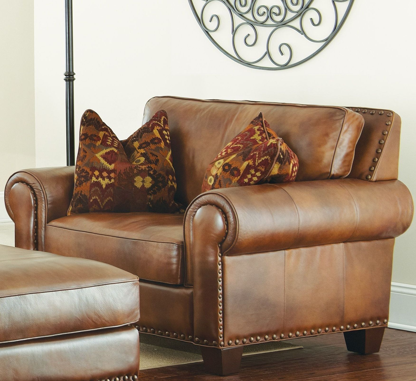 Silverado Caramel Brown Leather Chair In 2021 Brown Leather Chairs Traditional Chairs Chair And A Half